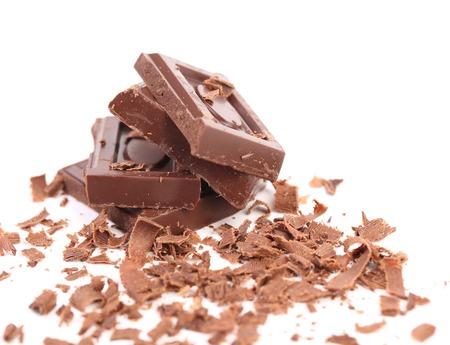 ganache: Chocolate bars and shaving.