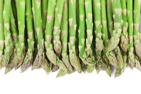 Close up di asparagi in alto. Archivio Fotografico