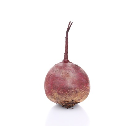 Ripe fresh beet. Isolated on a white background. photo