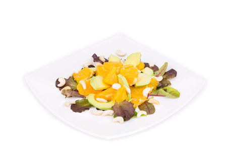 Fitness salad. Isolated on a white background. photo