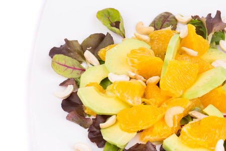 Close up of fitness salad. Whole background. photo