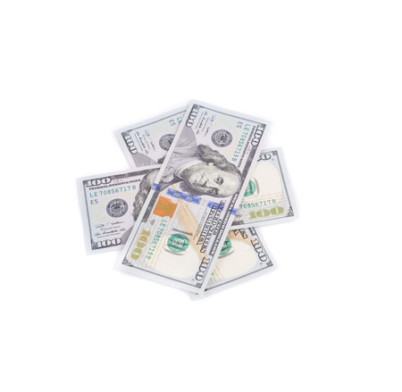 American dollar bills. Isolated on a white background.