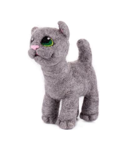 cat toy: Juguete lindo del gato. Aislado en un fondo blanco. Foto de archivo