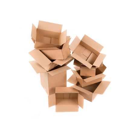 stockpiling: Pila de cajas vac�as.