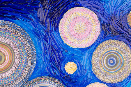Abstract painting of circles. Texture. Whole background. photo