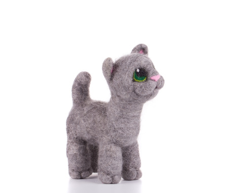 catling: Cat - kids toys. Isolated on a white background. Stock Photo