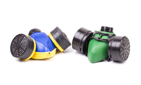 Two respirators. Isolated on a white background. photo