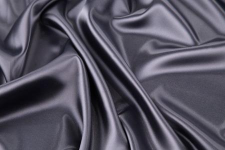 Black silk . Texture. Close up.  photo