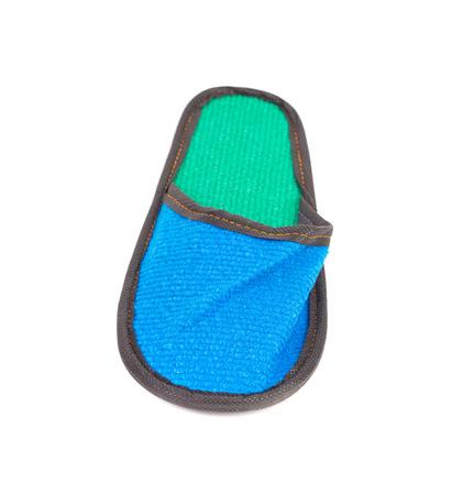 houseshoe: Blue slipper. Isolated on a white background. Stock Photo