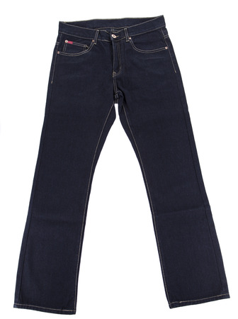 Close up of black jeans. Isolated on a white background. photo