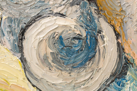 Abstract oil painting of circles. Whole background. photo