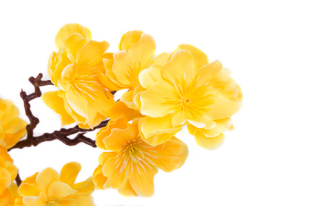 Artificial yellow flowers isolated on white background stock photo artificial yellow flowers isolated on white background stock photo 31037274 mightylinksfo