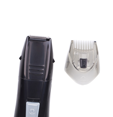 hairclipper: Hairclipper. Isolated on white background in closeup