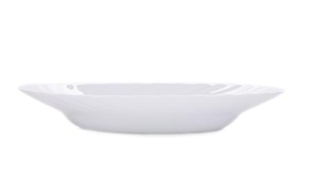 delftware: Piatto bianco. Isolato su sfondo bianco