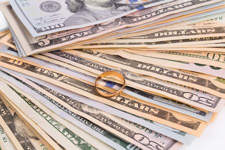Dollar Bills. Close up.