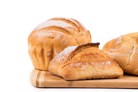 Composition of various kinds of bread in the closeup photo
