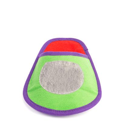 houseshoe: Green slipper. Isolated on a white background. Stock Photo