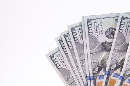 greenbacks: Fan of 100 dollars greenbacks. Whole background.