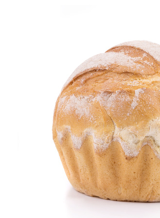 bread in the closeup on the white background photo