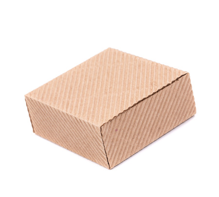 stockpiling: Stack of closed box. Isolated on a white background.
