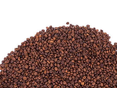 caf: coffee beans isolated on a white background