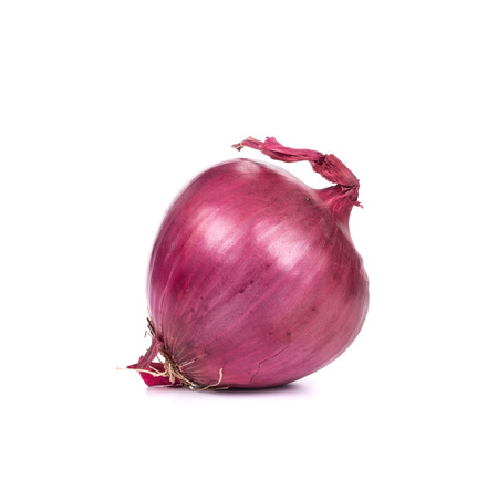 aftertaste: Red onion. Isolated on a white background.
