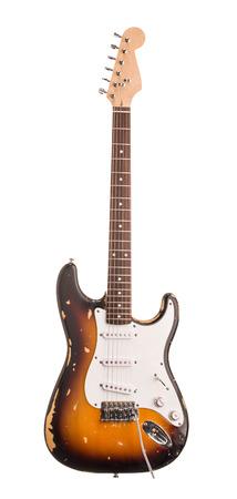 Chitarra elettrica. Isolato su sfondo bianco.