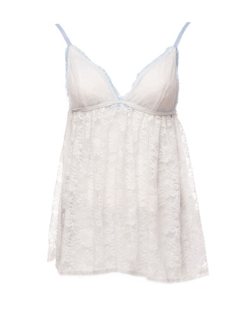 nightgown: Satin Womens nightgown isolated on a white background Stock Photo