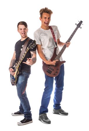 lead guitar: Lead and bass guitarist. Located on the white .