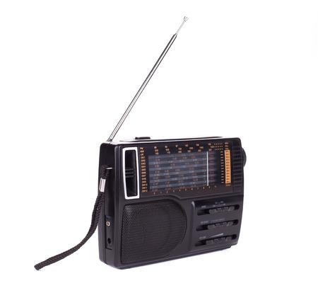 am radio: Retro radio. Isolated on a white background. Stock Photo