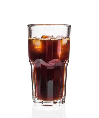 Cola with Ice. Isolated on a white background. photo