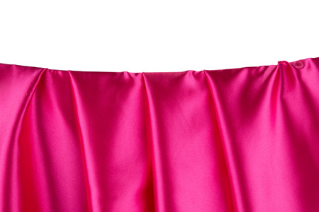 satiny: Pink silk drapery. Isolated as a whole background.