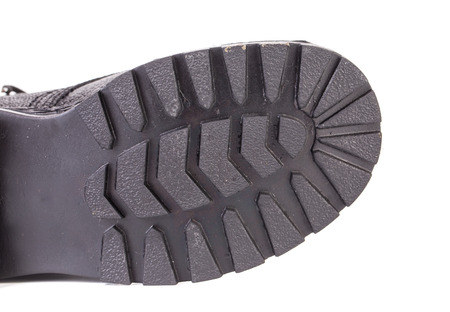 adult footprint: Shoe sole isolated on the white background
