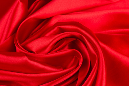 satiny: Red silk drapery. Located on the Whole background. Stock Photo