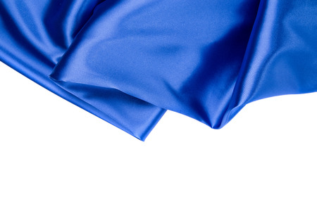 sexual abstract: Blue silk drapery. Isolated as a whole background.