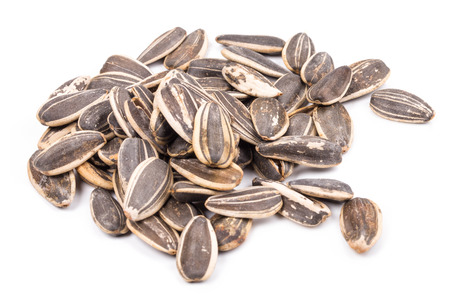 black seeds: Background of sunflower seeds. Whole background. Black seeds