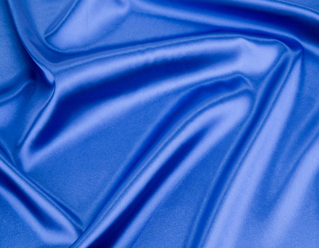 texture cloth: Blue silk texture cloth. Close up on the whole background. Stock Photo