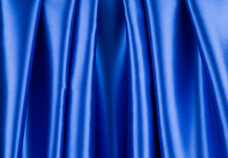 texture cloth: Blue dark silk texture cloth. Close up. Whole background. Stock Photo