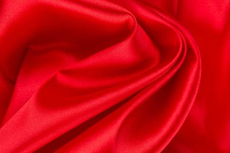 sexual abstract: Red silk drapery Stock Photo