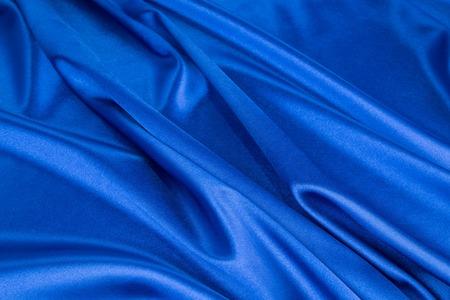 Blue silk drapery Stock Photo