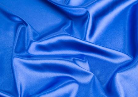 cloth texture: Blue silk cloth texture close up Stock Photo