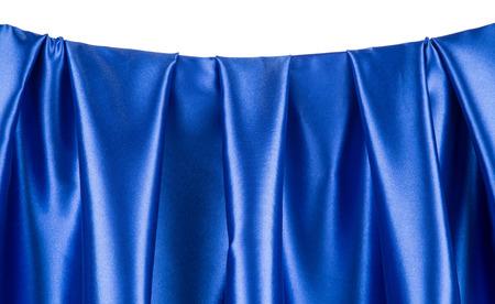 sensuous: Blue silk drapery Stock Photo