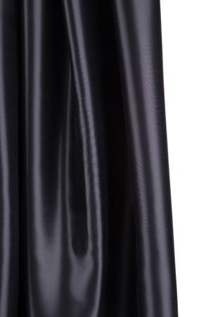 tela seda: Suaves pliegues de tela de seda negro Foto de archivo