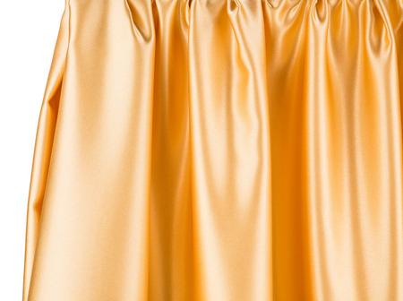 sensuous: Golden silk drapery Stock Photo