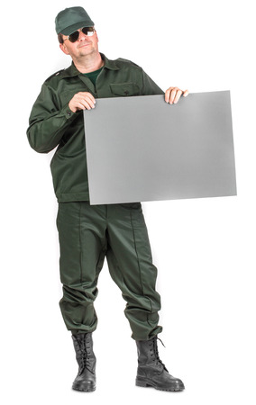 lcd monitor: Workman with lcd monitor. Isolated on a white background.