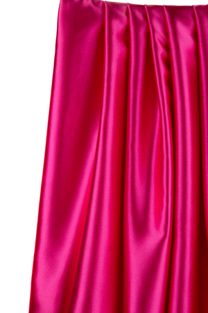 cloth texture: Soft folds of pink silk cloth texture. Whole background.