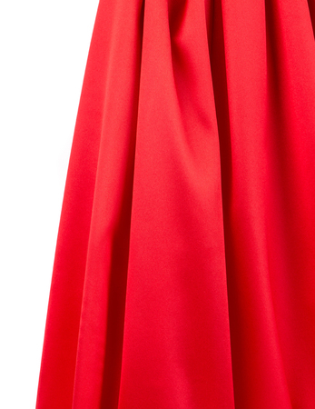 red silk: Red silk drapery Stock Photo