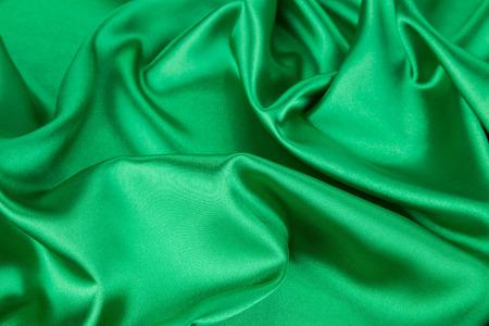 sensuous: Green silk drapery