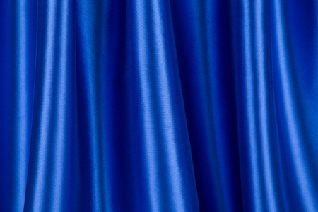 Blue silk drapery Stock Photo