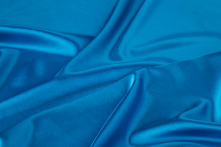 sensuous: Blue silk drapery as a whole background.